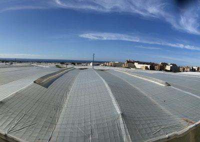 Panorámica vista sur exterior invernadero